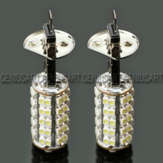 2 x Car H1 68 SMD LED Xenon White Fog Beam Driving Head Light Lamp Bulb 12V New