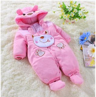 New Baby Girls Boys Romper Coverall Clothes 1 Piece Autumn Winter Size 0 12 M