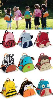 Cartoon Lovely Children Book Bags School Bag Animal Zoo Backpack Shoulder Bag