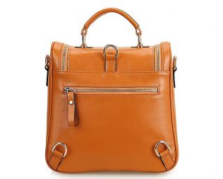 Women's Genuine Leather Multi Use Totes Satchel Shoulder Bag Handbag Backpack