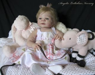 Victoria Sheila Michael Reborn Baby Girl Toddler Glass Eyes New Soft Vinyl Video