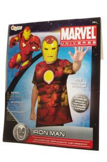 Disguise Marvel The Avengers Iron Man Halloween Costume Mask Boys XL 14 16 New