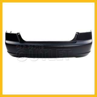 2001 2003 Honda Civic Rear Bumper Facial Raw Matte Black Plastic Cover 4DR Sedan