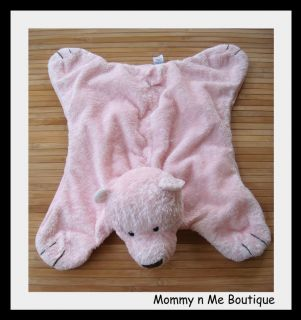 Baby Gund Pink Bear Comfy Cozy Security Blanket 5864