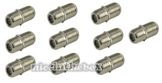 Female F F RG6 Coax Coaxial Cable F Type Coupler Adapter Connector 10 Pack N98B