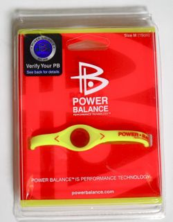 Power Balance Wrist Band Bracelet Medium Yellow 19cm