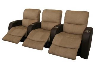 Catalina Home Theater Seating 7 Chairs Brown Recliners