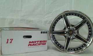 "Motegi Racing Series MR107 Gloss Black Finish Machined Wheel 17x7 5"" 5x4 5"""