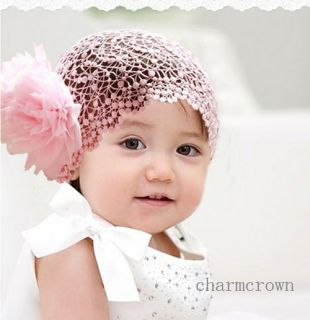 Baby Girl Infant Toddler Flower Lace Tulle Headband Headwear Hair Band C0070D