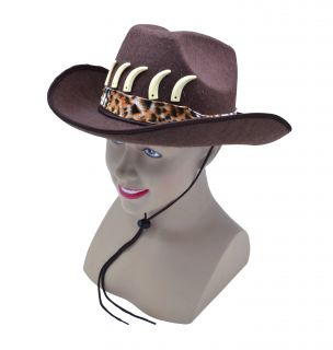 Adult Crododile Dundee Cowboy Hat Indiana Jones Fancy Dress