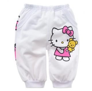 "Hot New Baby Kids Girls T Shirt Short Pants Set Clothes Costume Pink ""Kitty"""