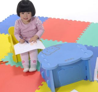 New Eva Plastic Foaming Learning Baby Desk and Chairs Children Dinette