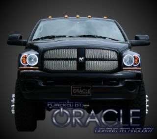 New 06 08 Dodge RAM Oracle White CCFL Headlight Halo Kit Halos Demon Eyes Black