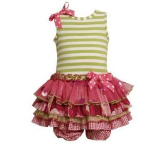Baby Girls Bonnie Jean Tiered Dress Size 3 6 Months Spring Easter Clothing