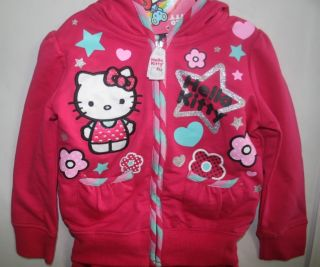 New★ Hello Kitty Toddler Girls 2pc Outfit Tracksuit Pants Set ★hot Pink or Teal