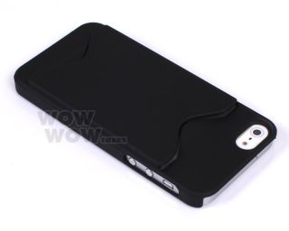 Black ID Business Credit Card Holder Hard Case Back Cover for iPhone 5 5g
