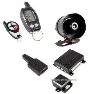 Crime Guard CG 750I7 2 Way Car Security Alarm Keyless Entry System w 2 Pagers