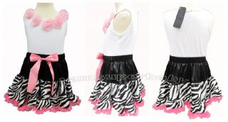 6M 3yrs Sweet Pretty Baby Girl Dress Up Pettiskirt Tutu Vest Ruffle Set