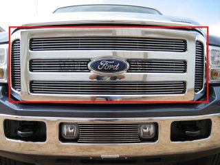 05 06 07 Ford F250 SD Billet Grille Insert Upper Grill