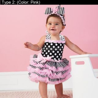 Baby Girl's Kid Lace Princess Skirt Dress Polka Dot Outfit Pettiskirt Tutu Dress