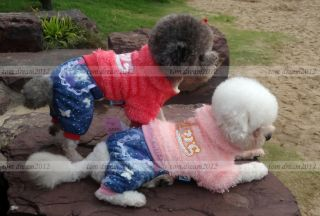 Autumn Winter Plush Dog Clothing Coats Cotton Warm Dog Jacket Sweater Clothes