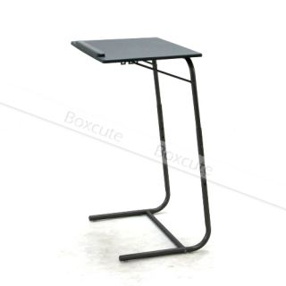 Black Portable Height Adjustable Folding Computer Desk Tray Laptop Table Bedroom