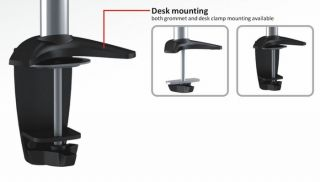 "Dual Monitor Display Desktop Mount OSD TSM 02 C024 Tilt Swivel LCD 13"" 23"""