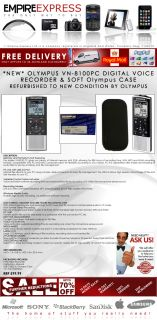 Olympus VN 8100pc Dictaphone Digital Voice Recorder USB PC 2GB RRP £99 Case