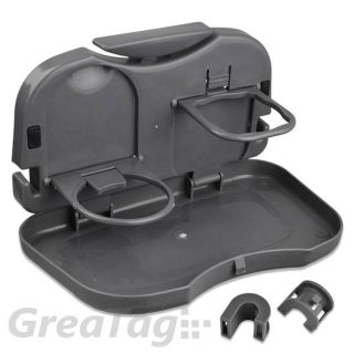 Car Vehicle Meal Plate Drink Coffee Cup Holder Tray Back Seat Food Desk Foldable