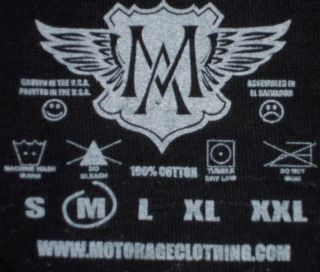 Motor Age High Speed Drag Racing Black Casual T Shirt Made in The USA M NWOTS
