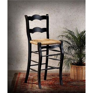 French Country Black Bar Stool Painted Furniture Kitchen Counter Height Chair