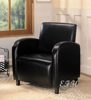 New Modern Black Red White Bycast Leather Accent Chair