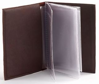 New Leather Auto Documents Holder Cover for Car Drivers LICENCE Insurance