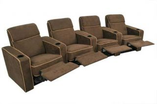 Seatcraft Lorenzo Row of 4 Seats Home Theater Seating Chairs
