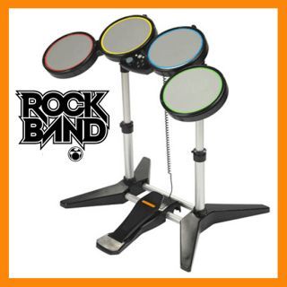 Official PS2 PS3 Rock Band Drum Set w Padel for Rockband 1 2 Beatles Green Day