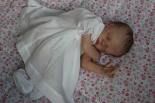 Reborn Preemie Baby Girl Maisie Lifelike Doll Art Dimples and Wrinkles