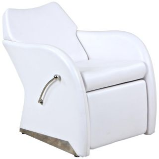 New White Lounge Salon Shampoo Chair Footrest Su 59W