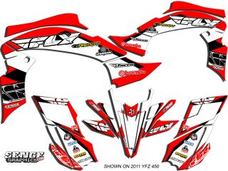 Raptor 700 RAPTOR700 Yamaha Graphics Kit Deco Stickers ATV Quad 4 Fly Decals