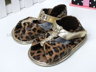 New Toddler Baby Girl Leopard Sandals Shoes UK Size 1 2 3