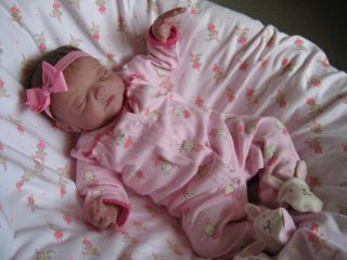 Beautiful Reborn Newborn Baby Girl by Lindas Babies 14 yr Experienced Artist