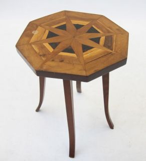 Antique Middle Eastern Side Table Art Deco Inlaid Lamp Wine Table Plant Stand