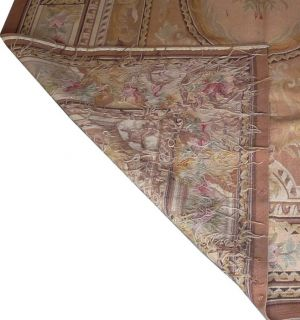 "5'8''x8'8"" Hand Woven Wool French Aubusson Flat Weave Beige Area Rug Brand New"
