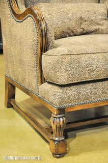 Lorts Upholstered Leopard Print Wing Chair