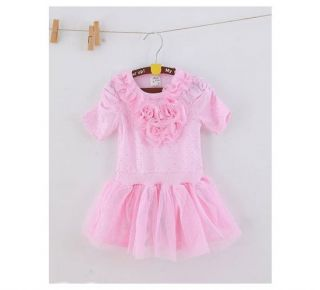 1pc Baby Girl Kids Toddlers Flower Top Tutu Party Princess Dress Skirt Clothes