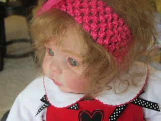Reborn Baby Doll Girl Chanel by Donna RuBert with Belly Plate Mohair Human Hair