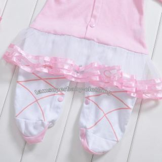 0 1YR 0 12M Newborn Baby Girl Lovely Princess Ballet Romper Dress Set with Hat