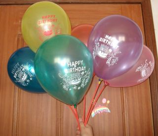 "50 Pcs Latex Round Large Balloons 10"" Multicolor Happy Birthday Party Decoration"