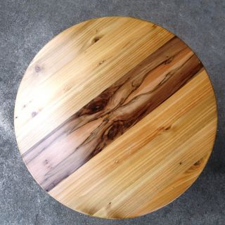 Contemporary Round Recycled Side Tables