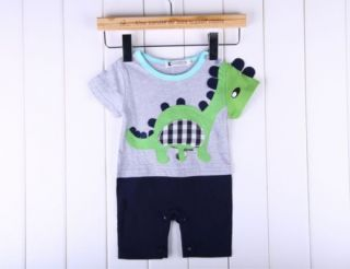 1pc Boy Kid Baby Toddler Infant Dinosaur Leisure Romper Jumpsuit Clothes Outfit
