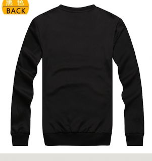 Mens Casual Crewneck 17 Print Splice Long Sleeve Hip Hop Stylish Shirts N544